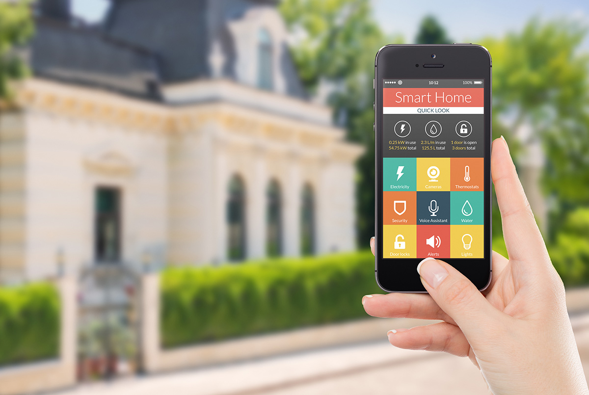 Automatización Residencial: Controle su casa a través de su dispositivo inteligente iPhone, iPad o Android